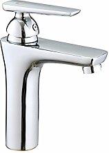 Bad Armatur Waschbecken mit warmen und kalten Einloch Mischbatterie Waschbecken Wasserhahn tippen