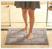 Bad, Bad saugfähiger Teppich, rutschfeste Matte, Eingangshalle Matte, Schlafzimmer Tür Nachttisch Teppich , #5 , 40*60cm