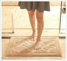 Bad, Bad saugfähiger Teppich, rutschfeste Matte, Eingangshalle Matte, Schlafzimmer Tür Nachttisch Teppich , #1 , 50*80cm