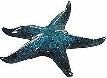 Bad-Dekoration Seestern blau . glasiert - Durchmesser: 15 cm