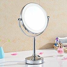 Bad Desktop Vanity Kosmetik Vergrößerungsspiegel 2 Gesicht mit LED Licht 3X