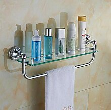 Bad Dusche Glas Regal Eckzarge Chrom Rack