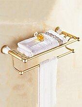 Bad Handtuch Rack Badezimmer Europäische Gold Retro Lagerung Rack Handtuch Bar Handtuch Rack Badezimmer Regale