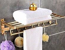 Bad Handtuch Rack Space Aluminium Bad Handtuch Badezimmer Badezimmer Anhänger Bad Anhänger Toilette Golden Badezimmer Raum Aluminium Regal, Free Punch