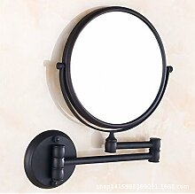 Bad Kosmetikspiegel Bad Spiegel einklappen Kosmetik Spiegel beidseitig drehbar an der Wand montiert Folding Badezimmer rasieren Kosmetikspiegel