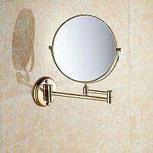 Bad Kosmetikspiegel/der Spiegel/Europäisch anmutenden fache Vergrößerung Badezimmerspiegel/Teleskop Wandspiegel