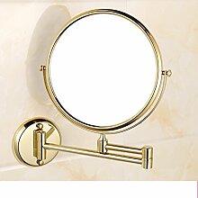 Bad Kosmetikspiegel/der Spiegel/[Wandklappspiegel]/Toilette Teleskop Spiegel/Double-sided Vergrößerungsspiegel-A