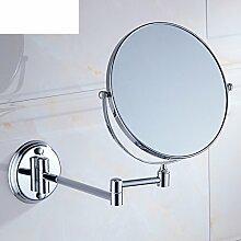 Bad Kosmetikspiegel/Doppelwand/Faltbare Toilette Teleskop Spiegel/Kosmetikspiegel/der Spiegel-A