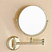 Bad Kosmetikspiegel/European-Style einklappbare Spiegel/Faltung Wandspiegel/Doppelte beidseitige Vergrößerung Badezimmerspiegel-D