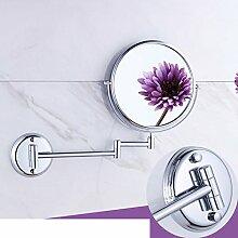 Bad Kosmetikspiegel/European-Style einklappbare Spiegel/Faltung Wandspiegel/Doppelte beidseitige Vergrößerung Badezimmerspiegel-A