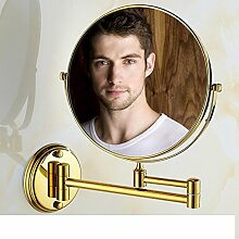 Bad Kosmetikspiegel/Faltung Teleskop Badezimmerspiegel/Two-sided vergrößerten Spiegel/Wandspiegel-B