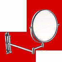 Bad Kosmetikspiegel/Faltung Wandspiegel/SpiegelSkala Badezimmerspiegel/Bad doppelseitige Kosmetikspiegel/Schönheit im Spiegel-F