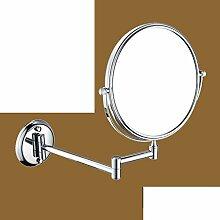 Bad Kosmetikspiegel/Faltung Wandspiegel/ SpiegelSkala Badezimmerspiegel/Bad doppelseitige Kosmetikspiegel/Schönheit im Spiegel-L