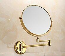 Bad kosmetikspiegel/teleskop-wand montiert folding beauty mirror/badezimmer lupe doppelseitig spiegel/kommode spiegel-D