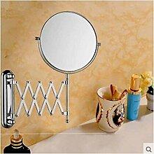 Bad Kosmetikspiegel/Zweiseitige Wand montierten klappbare Spiegel/Toilette Teleskop Spiegel/Kupfer-Spiegel/der Spiegel-A