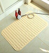Bad mat geruchloses wc Badematte mit Saugnapf Massage Matte dusche Badematten, 45cmx78cm gelb