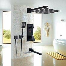 Bad Matte Dusche Wasserhahn Set Digital Kalt- und