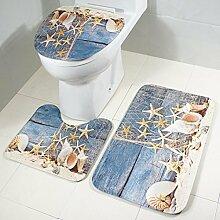 Bad Matte Satz 3 Sockel Mat Badematte und WC