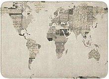 Bad Matte Vintage Karte der Welt alte antike