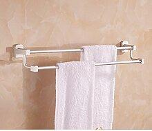 Bad Raum Alu Pol [Handtuchhalter] Handtuch Doppel-Handtuchhalter Bad-Accessoires-A