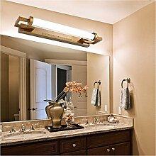 Bad spiegel Lampe LED LisaFeng Eisen Farbe Körper und Glas Lampenschirm, Retro wasserdicht Beschlagfrei, 68 cm