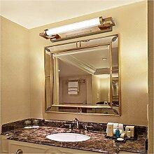Bad spiegel Lampe LED LisaFeng Eisen Farbe Körper und Glas Lampenschirm, Retro wasserdicht Beschlagfrei, 53cm