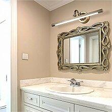 Bad spiegel Lampe LisaFeng Winkel einstellbar LED-Körper aus reinem Kupfer und Acryl Lampenschirm, Retro wasserdicht Beschlagfrei, Bronze, 43 cm