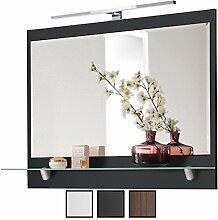 Bad-Spiegel mit LED Beleuchtung, Breite 90 cm, mit