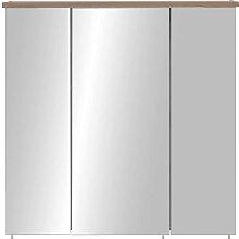 Bad Spiegelschrank im Dekor Fichte Grau LED