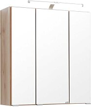 Bad Spiegelschrank in Buche LED Aufbauleuchte