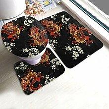Bad Teppiche und Matten Sets 3 Stück Chinese