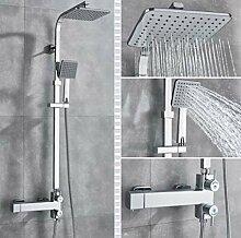 Bad Thermostat Wasserhahn Chrom Regen Dusche Bad