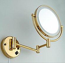 Bad vergrößern doppelseitigem KlebebandLEDLicht Make-up-Spiegel/Spiegel/Spiegel/Folding Drehspiegel/Vollbronzespiegel Teleskop Kind-B