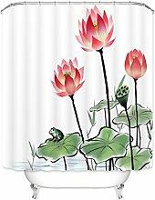 Bad Vorhang Wasserdicht Verdickung Anti Mehltau Lotus Bad Isolierung Vorhang mit Haken ( Farbe : D , größe : 180*180cm )
