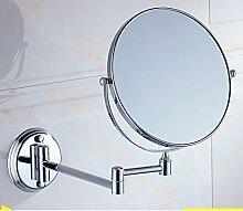 Bad Wand Drehspiegel/klappbare Spiegel/Toilette Teleskop Spiegel/Double Push-Pull Verstärker Friseur Spiegel-A