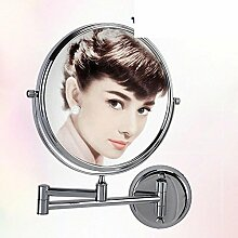 Bad Wand Halterung Kosmetikspiegel/folding WC Spiegel/Doppelte Vergrößerung Badezimmerspiegel-B