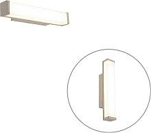 Bad Wandleuchte Stahl 32 cm inkl. LED IP44 -