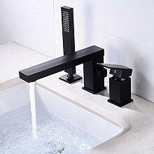 Bad Waschbecken Wasserhahn mit Duschkopf schwarz
