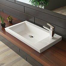 bad1a Gäste WC Waschtisch Aufsatzwaschbecken ohne