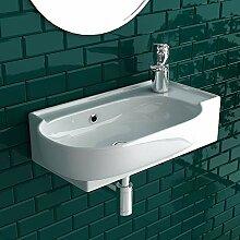 bad1a Handwaschbecken Mini Waschtisch Weiß