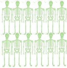 Bada Bing 12er Set Halloween Deko Skelett Glow In The Dark Leuchtet Im Dunkeln Partydekoration 65