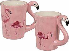Bada Bing 2er Set Tasse Kaffeebecher Flamingo