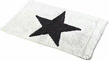Bada Bing Badematte weiß mit grauen Stern 100