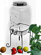 Bada Bing Getränkespender 3,5l aus Glas mit