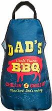 Bada Bing Grillschürze Dad´s BBQ Männerschürze Küchenschürze Vintage BBQ Grillen 3104