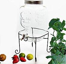 Bada Bing Großer Getränkespender 8l aus Glas mit