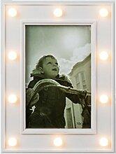 Bada Bing LED Bilderrahmen Weiß Fotorahmen Für 1