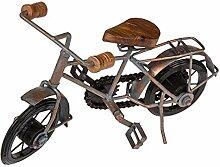 Bada Bing Metallfigur Fahrrad Mit Holz