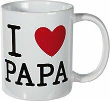 Bada Bing Tasse I Love I ♥ Papa Dad Beste Eltern Geschenk Kaffeetasse Becher