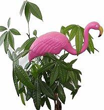 Bada Bing Teichfigur Flamingo pink 67 cm Steckfigur Garten Gartendeko Sommer Trend